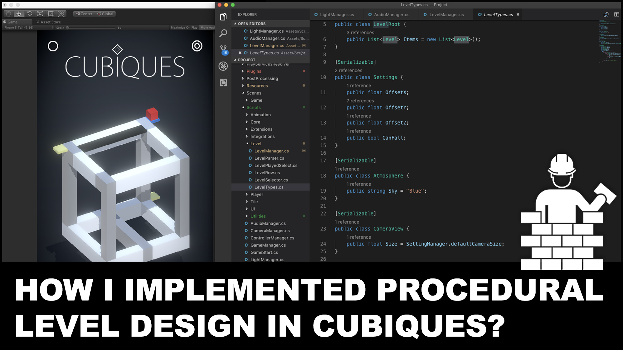 How I implemented procedural level design in my second game Cubiques?